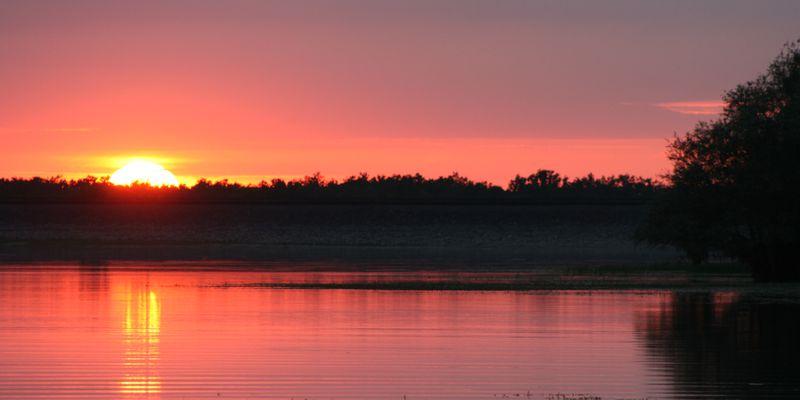 Coucher de soleil au Lac du Der © CRTCA
